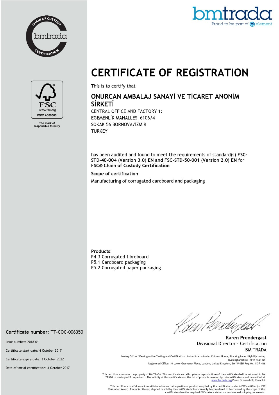 Management system certificates